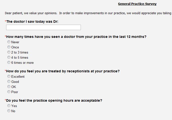 Patient Satisfaction Survey Templates